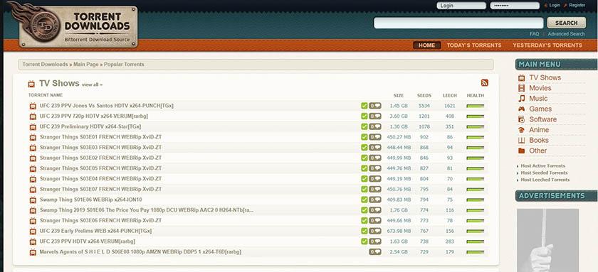 torrentdownloads per scaricare i torrent