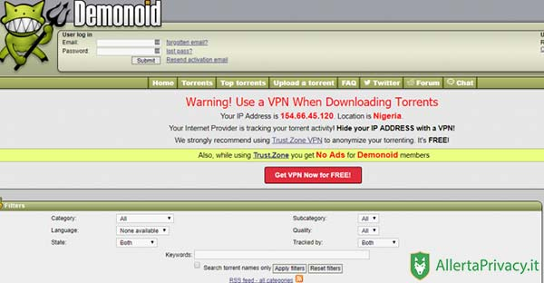 demonoid per scaricare i torrents
