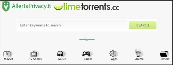 limetorrents per scaricare i torrenti