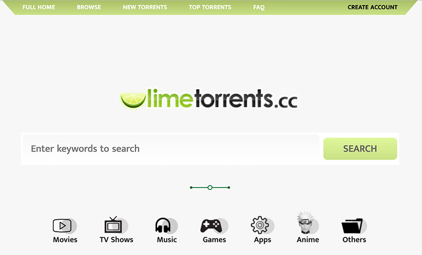 limetorrents per scaricare i torrenti