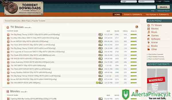 torrent downloads per scaricare i torrent siti torrent