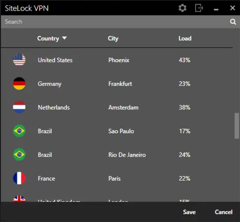 sitelock server list