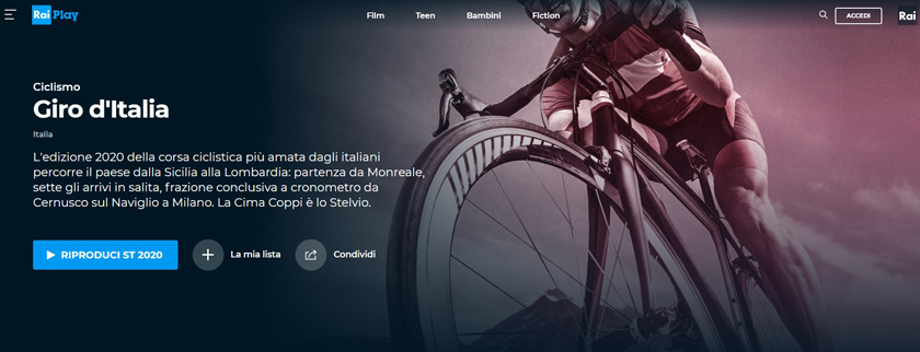 giro d'italia live streaming rai